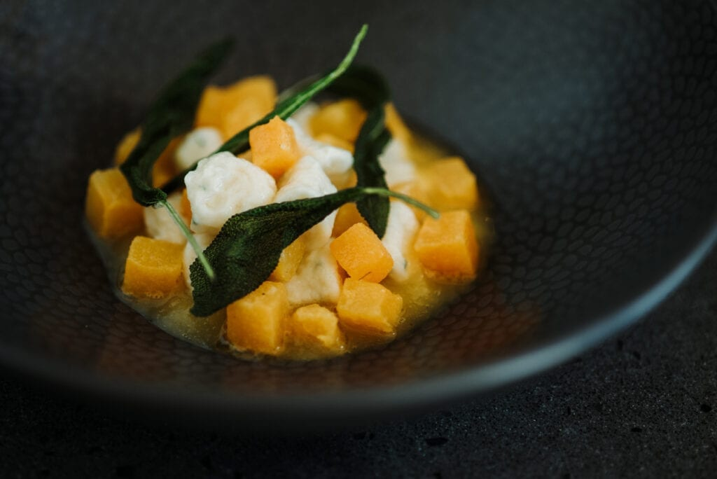 Handrolled gnocchi with pumpkin and sage